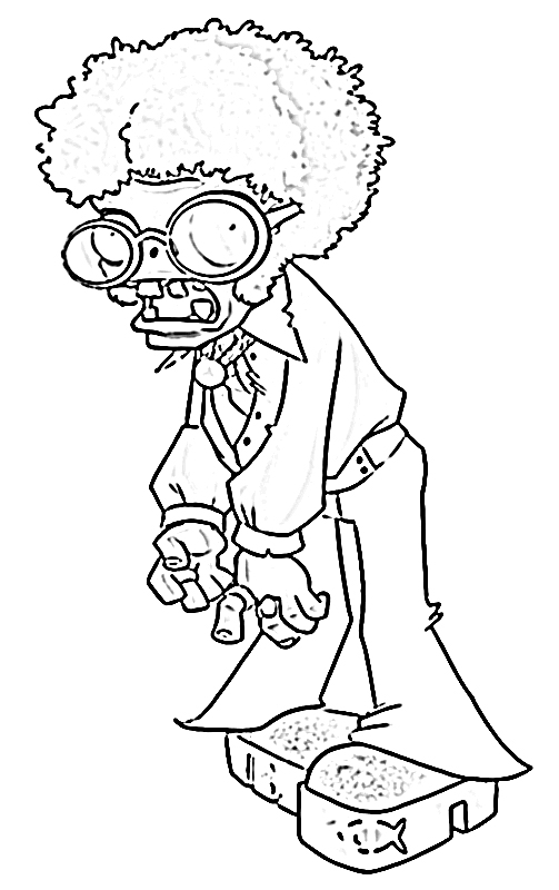 Zombie Plants vs Zombies Coloring Pages