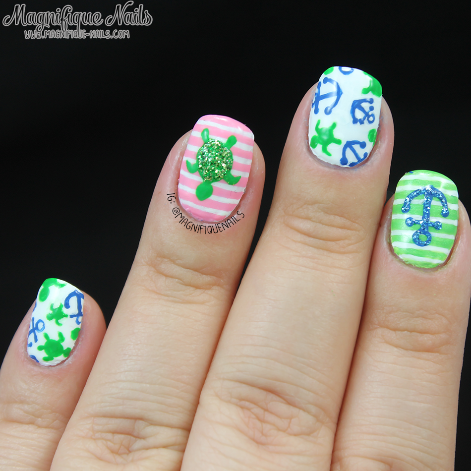 Magically Polished Nail Art Blog Summertime Nails