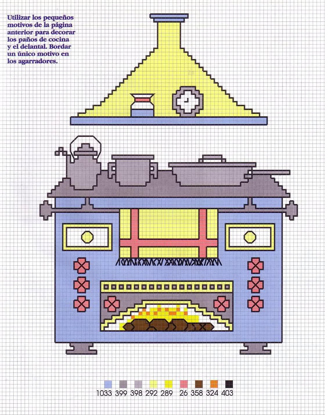 Utensilios cocina en punto de cruz gratis punto de cruz - Punto de cruz cocina ...