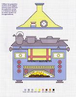Utensilios de cocina en punto de cruz