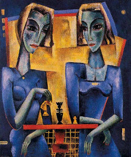 Les joueuses, une oeuvre réalisée en 1960 par Reimond Kimpe (1885 - 1970)