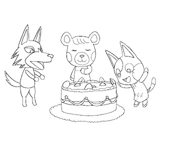 #3 Animal Crossing Coloring Page