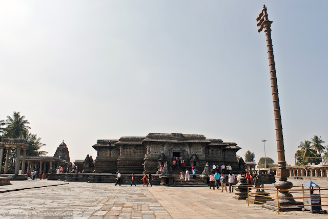 Saumyanaki temple is the left and Chennakeshava temple at the center. Also in the pic is the flagpole in the front
