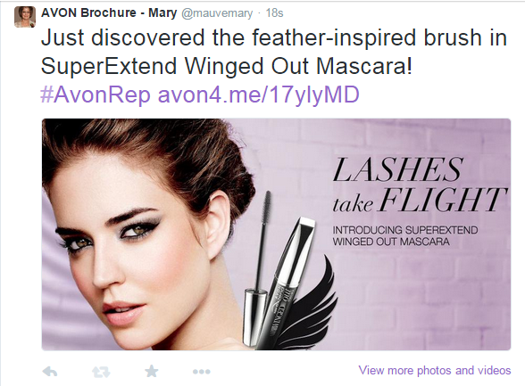 Avon SuperExtend Winged Out Mascara on Twitter