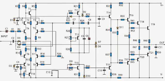 simple audio amplifier 2800w circuit diagram nonstop free rh circuitsproject blogspot com