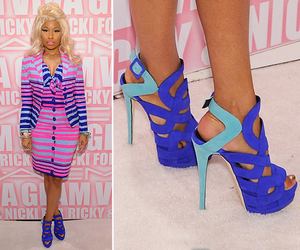 Nicki Minaj Heelless Shoes