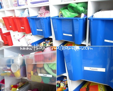 labeling toy bins
