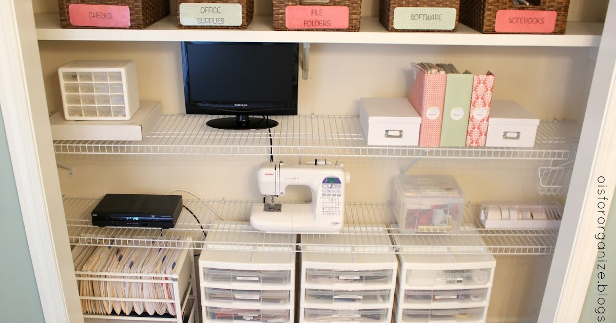 o is for organize.: a crafty/office closet