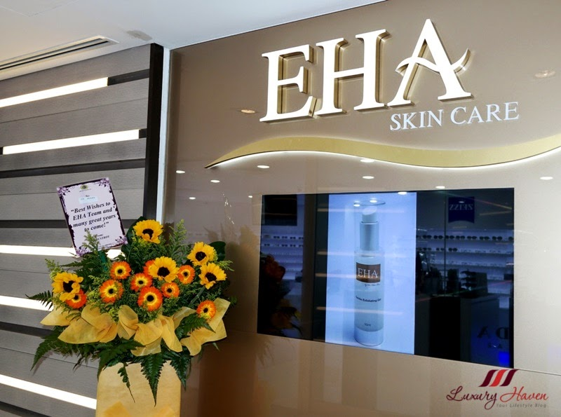 eha skincare shop at shaw centre orchard road