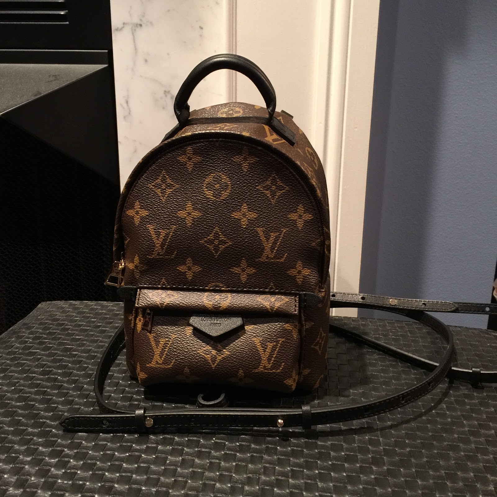 louis vuitton palm springs backpack mini in lvoe with. Black Bedroom Furniture Sets. Home Design Ideas