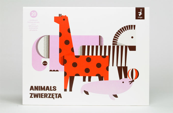 Fold up paper animals - Polish design