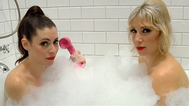 Lauren Miller and Ari Graynor in the bath together