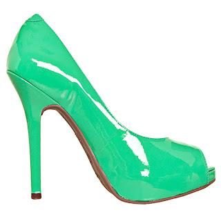 Via Marte - Coleção Verão 2013 sapato verde verniz, preços