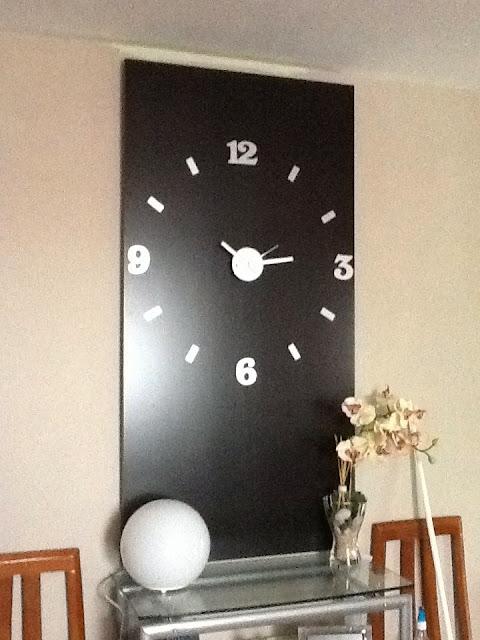Dos en uno reloj gigante y mesa con linnmon mi llave allen - Reloj gigante pared ...