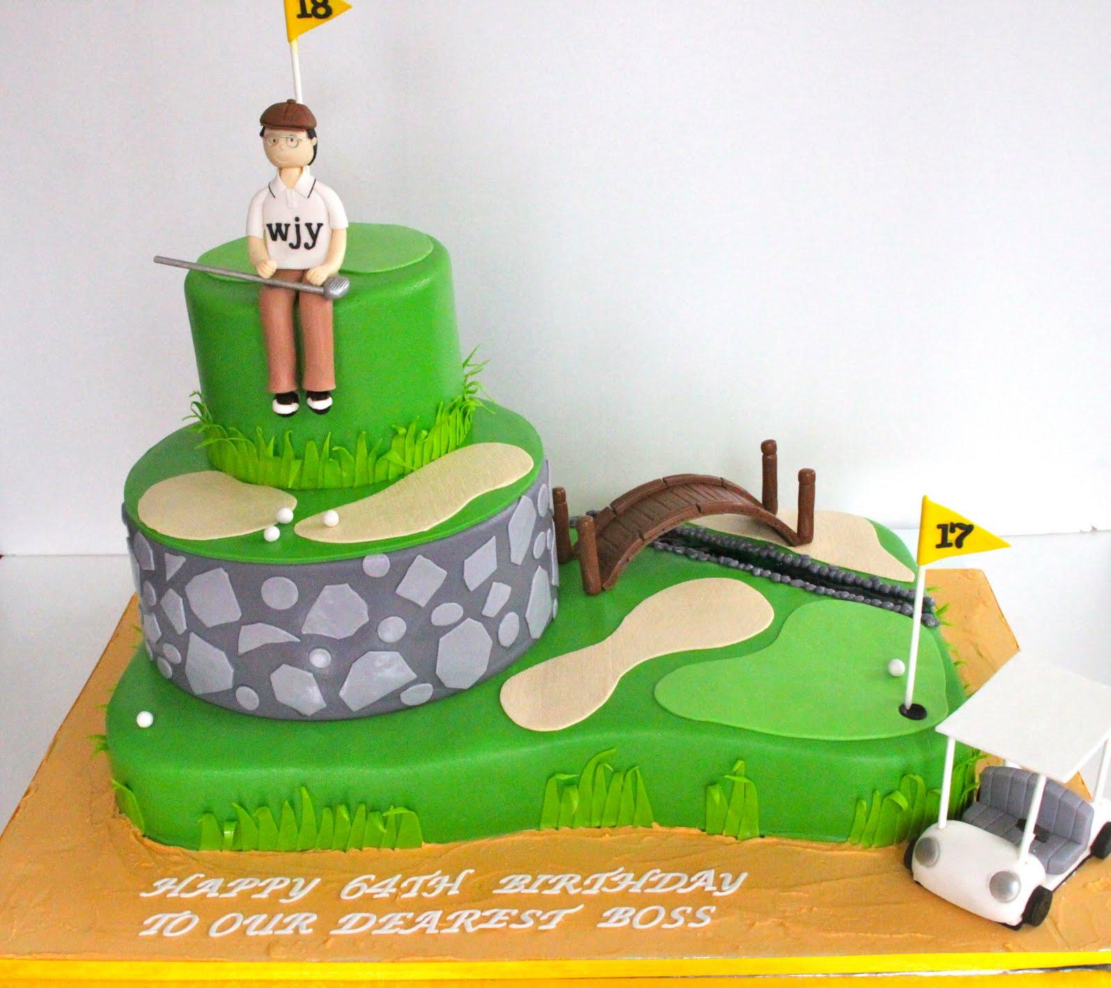 Happy Birthday Bill Golf Cake