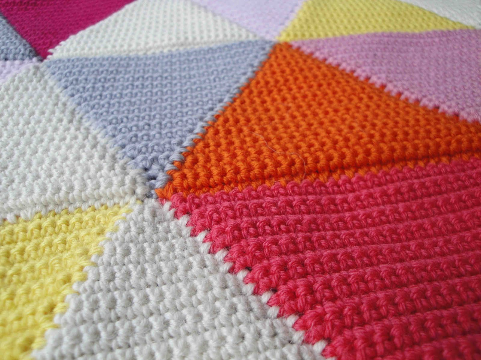 Crochet Triangle : As you can see, there are more triangle cushions being crocheted in my ...
