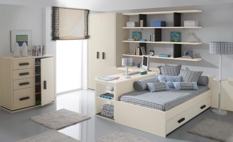 Dormitorio infantil con cama nido - Dormitorios infantiles dos camas ...