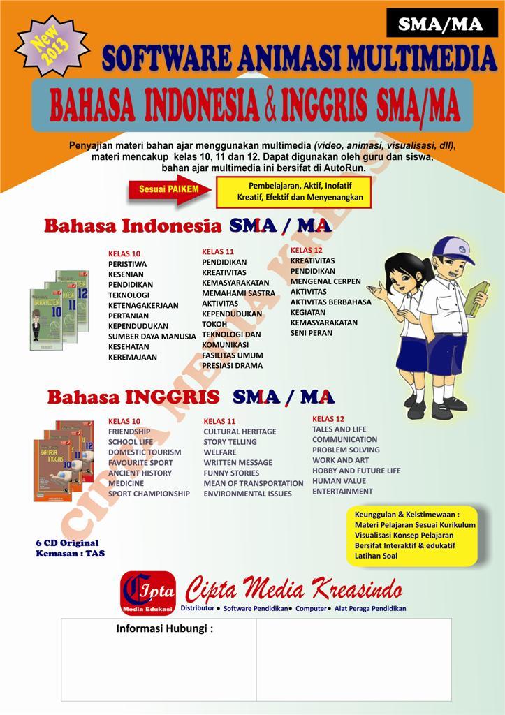 CD INTERAKTIF BAHASA INDONESIA DAN BAHASA INGGRIS SMA 2013