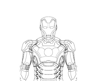 #1 Iron Man Coloring Page