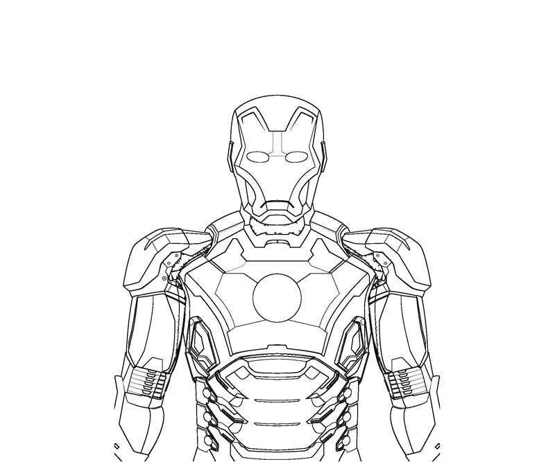 Printable Iron Man 1 Coloring Page title=