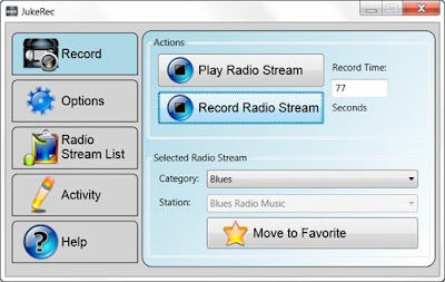 JukeREC Standard , sound recorder, sound softwares, Interent radio recorder , freewares , windows softwares,