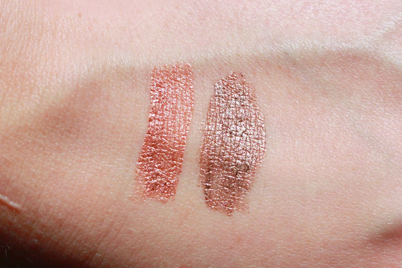 rimmel scandaleyes eyeshadow paint swatches, rimmel peachy apricot swatch