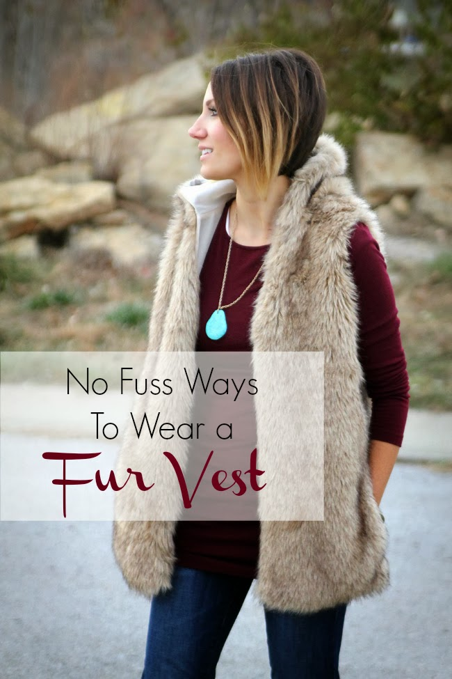 Easy, no-fuss ways to wear a fur vest this winter