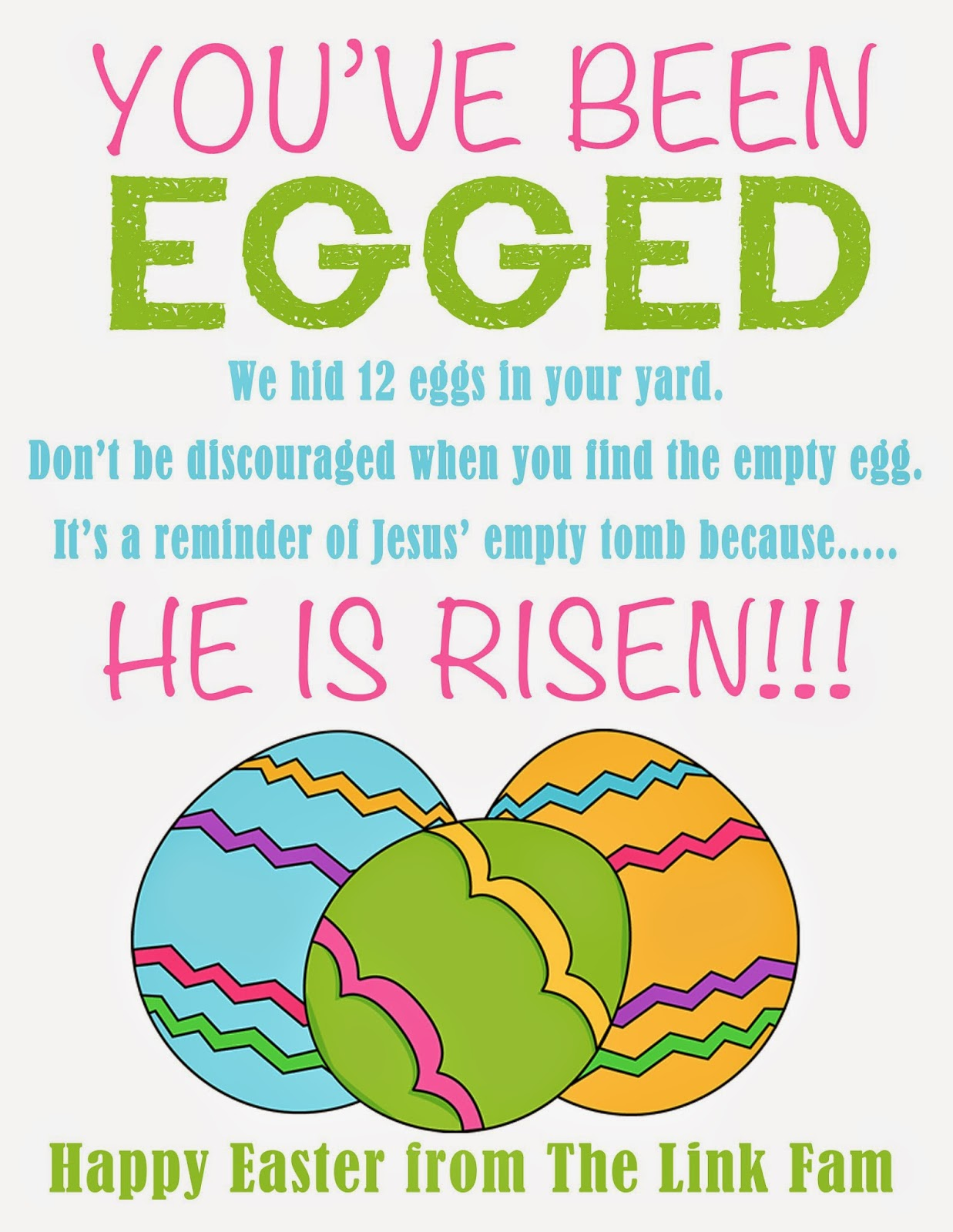 image regarding You've Been Egged Printable titled The Hyperlink Dwelling: Youve Been EGGED + a no cost printable