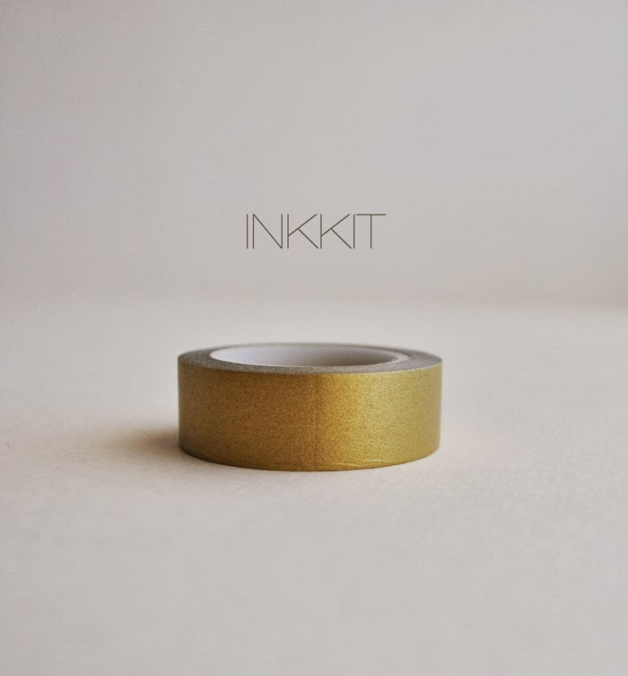 INKKIT in gold  tape gold