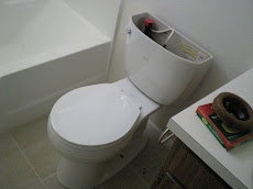 New Toilet, plus Porcelain Tile Floor
