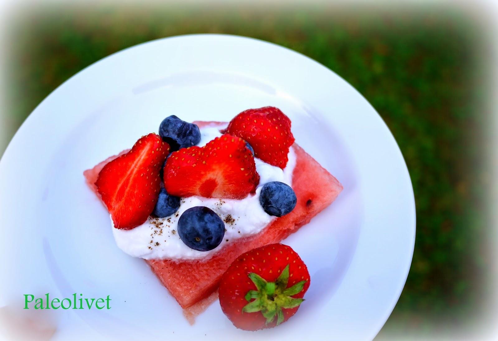 Paleo vandmelond dessert