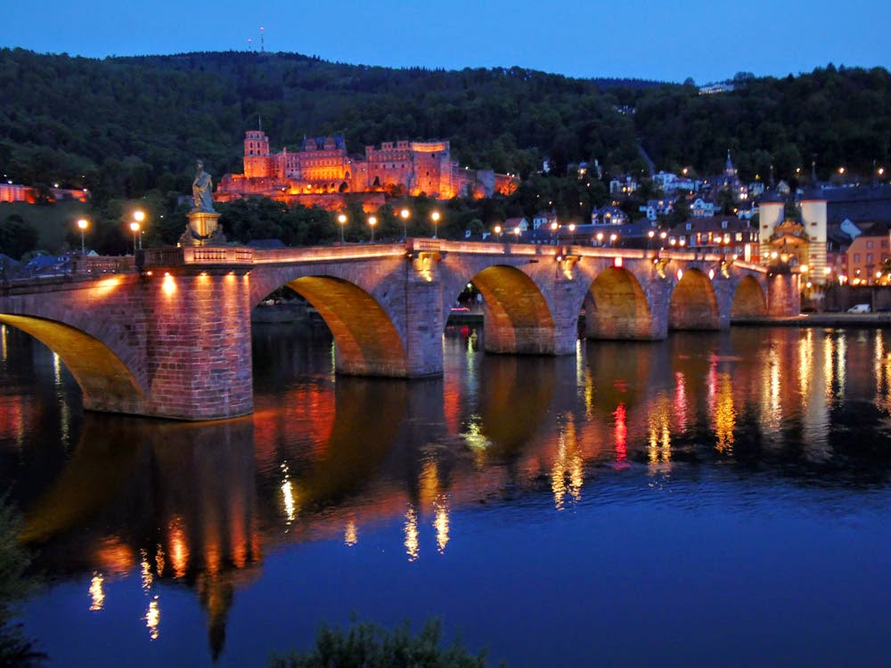 Heidelberg by night, taken by Andie Gilmour