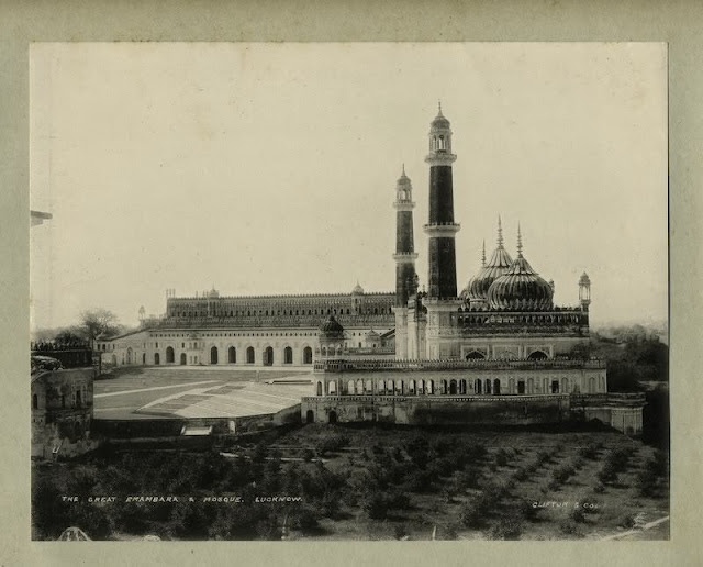 Great imambara of lucknow uttar pradesh 1890 39 s old for Architecture design for home in lucknow