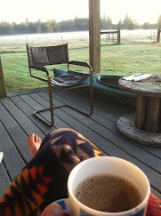Morning coffee on the Family Farm