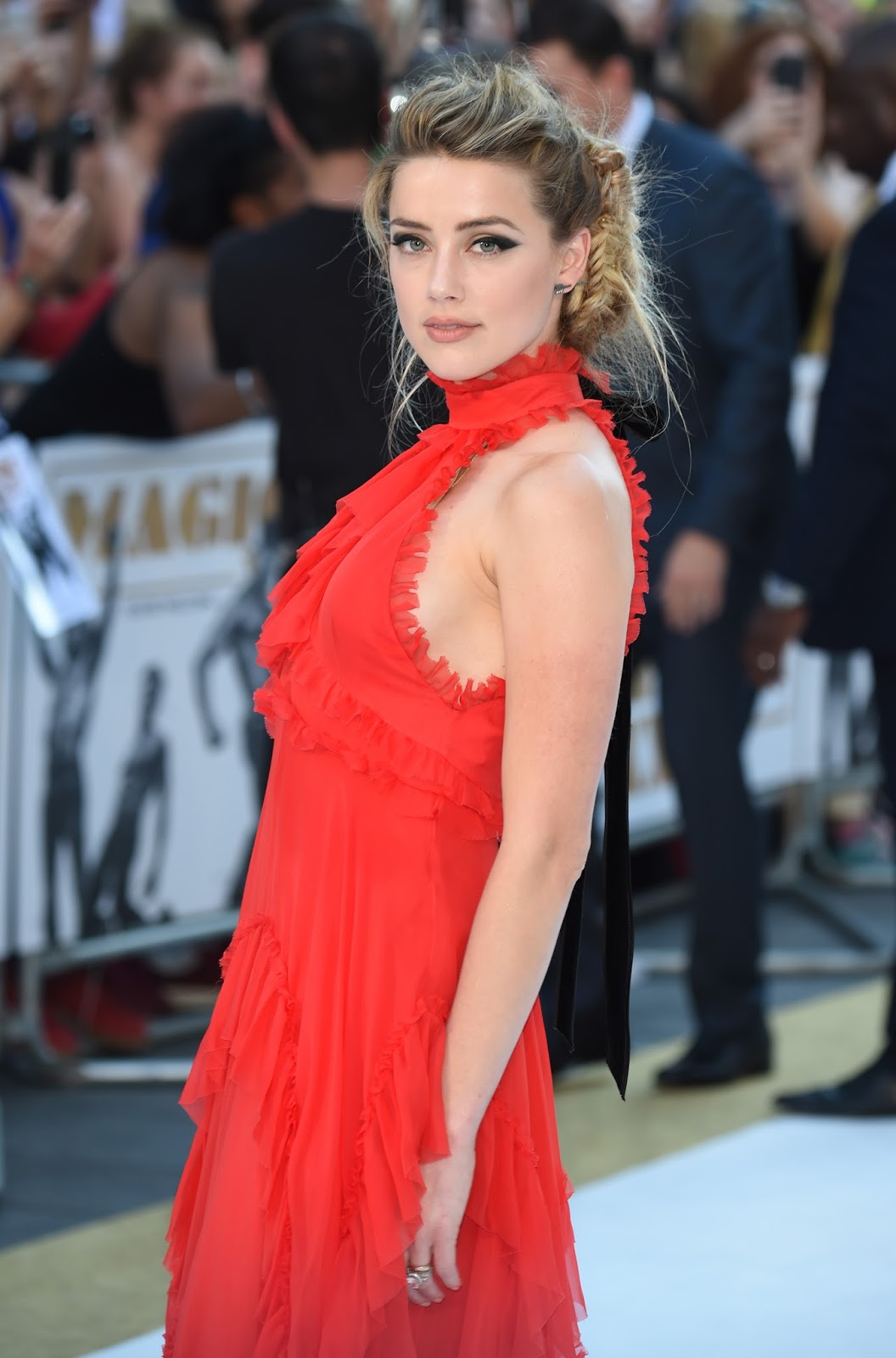 Amber Heard at London Premiere of 'Magic Mike XXL'