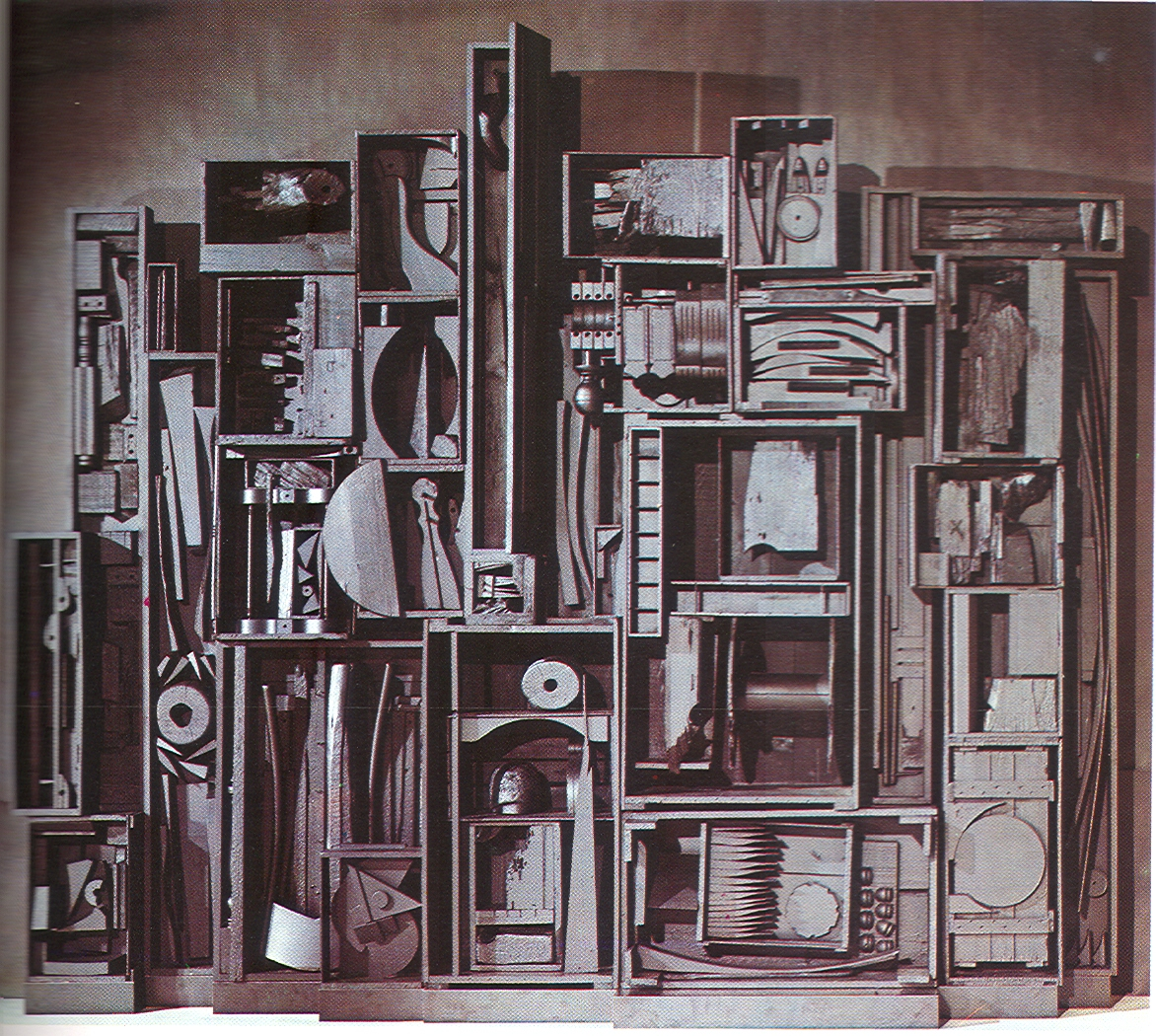 louise nevelson sky cathedral Louise nevelson, a pioneer creator of environmental sculpture who became one of the world's best-known women artists, died yesterday evening at her home on spring street in manhattan she was 88 .