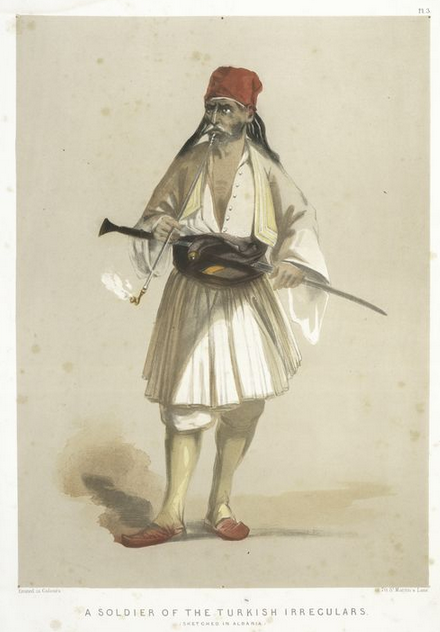 A Soldier of the Turkish Irregulars(Albania)