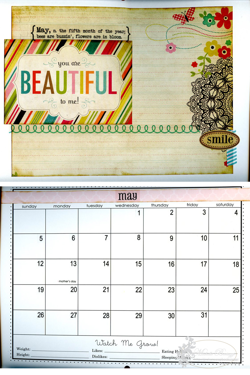 Baby Calendar May : Srm stickers baby s first year calendar by michelle winner