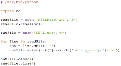 NSRL Python Code