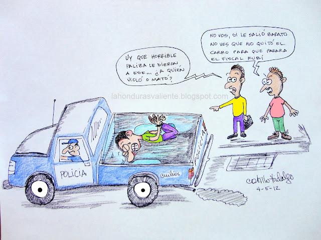 caricatura hombre esposado