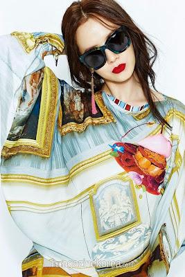 Song Ji Hyo - Harper's Bazaar Magazine April Issue 2015 Vivienne Westwood