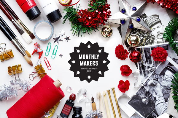 Monthly Makers adventskalender 2015, diy, do it yourself, skapa, skapande, kreativitet, creativity, create, jul, christmas, xmas, julkalender, lucka, lucköppning