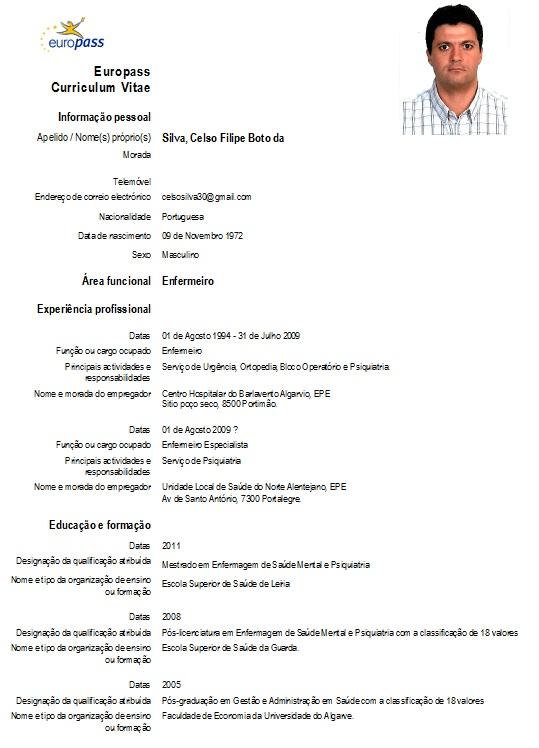 curriculum vitae  curriculum vitae europeu