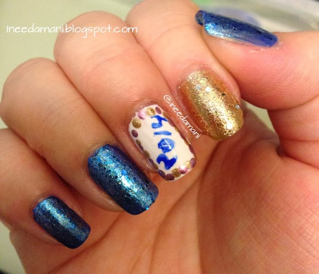 nicole opi selena gomez kissed at midnight sinful colors paris sally hansen xtreme wear golden i pink satin maybelline color show brocades beaming blue sinful colors blue by you essie blanc new year's nails 2014