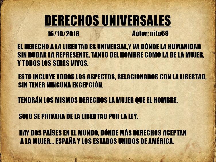 DERECHOS UNIVERSALES