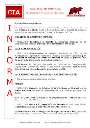 C.T.A. INFORMA, LO REALIZADO EN FEBRERO DE 2020