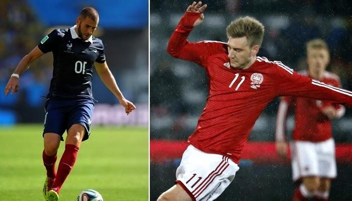 Francia vs Dinamarca en vivo