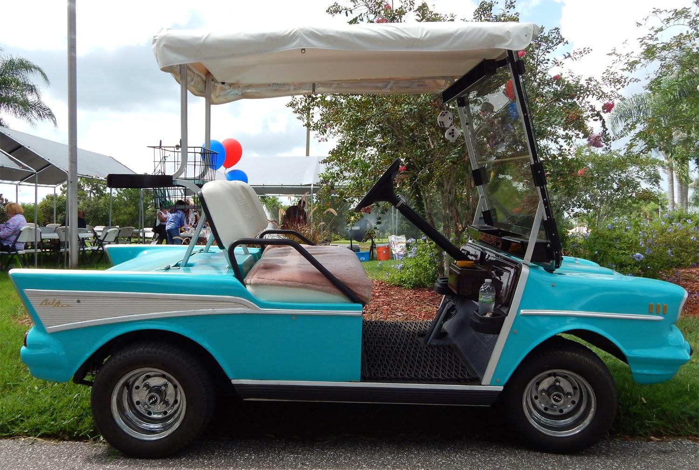 Blue 57 Chevy Bel Air Ez Go Golf Cart Sun City Center