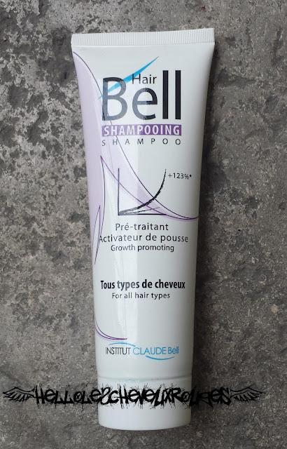 Packaging du shampoing Hair Bell Hellolescheveuxrouges