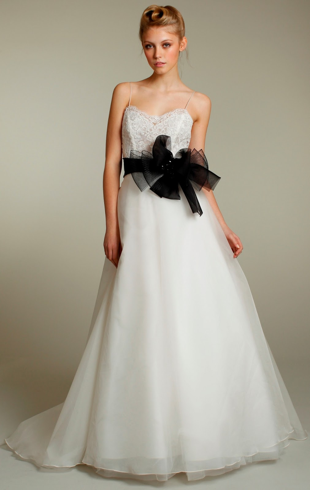 Choose your fashion style wedding dresses with black sashes for Wedding dress belt sash